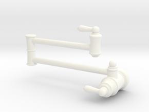 1:6 Pot Filler (Stationary)  in White Processed Versatile Plastic