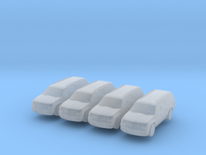 Cadillac Escalade 2013 (x4) 1/220 in Smooth Fine Detail Plastic