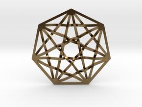 7D Hypercube Pendant in Natural Bronze