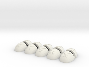Warbringers V6 Smooth Shoulder Pads in White Natural Versatile Plastic