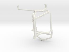 Controller mount for PS4 & Motorola Moto G40 Fusio in White Natural Versatile Plastic