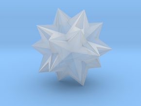 Compound of Ten Tetrahedra - 10 mm in Smooth Fine Detail Plastic