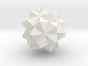 Compound of Five Octahedra - 1 Inch in White Natural Versatile Plastic