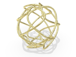 Christmas Ornament 2015_008 in 18K Yellow Gold