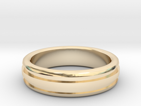 Man's Wedding Band M-004 in 14K Gold