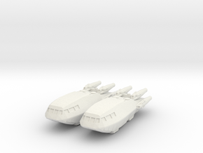 1/1000 Scale Colonial Shuttle Mk-3 in White Natural Versatile Plastic
