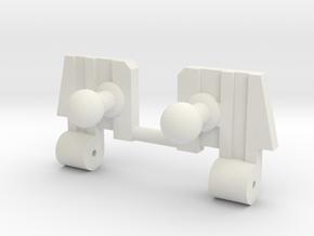 WFC Kingdom Core Class Megatron Shoulders in White Natural Versatile Plastic