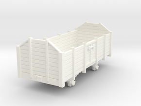 Open wagon H0m in White Processed Versatile Plastic
