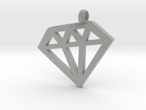 Diamond necklace charm in Metallic Plastic