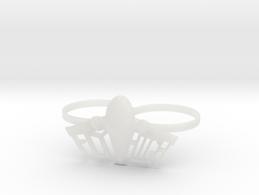 Plane Double Ring in Smooth Fine Detail Plastic