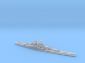 French Battleship Jean Bart (Post War) in Smooth Fine Detail Plastic: 1:1800