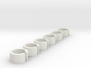 FI Spool Inserts in White Natural Versatile Plastic