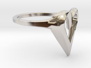 FLYHIGH: Skinny Heart Ring 11mm in Platinum