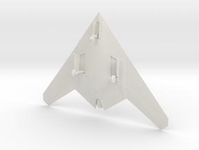 Sukhoi S-70 Okhotnik-B UAV w/Landing Gear in White Natural Versatile Plastic: 1:200