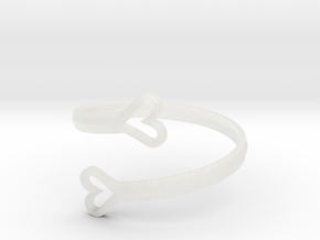 FLYHIGH: Open Hearts Bracelet in Smooth Fine Detail Plastic