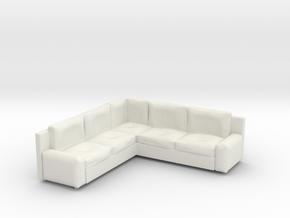 Corner Sofa 1/64 in White Natural Versatile Plastic