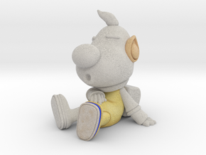 Louie Sit in Natural Full Color Sandstone
