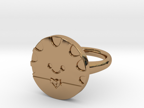 Peppermint Butler Ring (Large) in Polished Brass