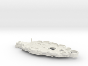 1/426 USS Nevada (1941) Casemate Deck w/out 5''/51 in White Natural Versatile Plastic