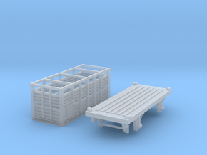 VR N Scale KQ Wagon with MC Container in Smooth Fine Detail Plastic