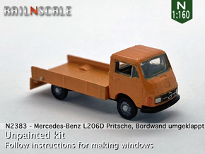 Mercedes-Benz L206D Pritsche (N 1:160) in Smooth Fine Detail Plastic
