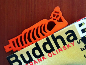 Buddha Bookmark in Orange Strong & Flexible Polished