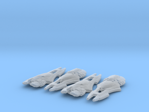 Xindi Primate Ship 1/10000 x4 in Smooth Fine Detail Plastic