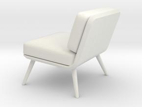 Miniature Spine Lounge Suite Petit in White Natural Versatile Plastic