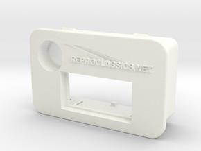 Delta Exhaust temperature & buzzer light frame 1 in White Processed Versatile Plastic