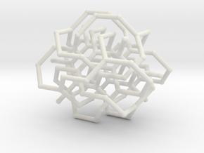 FCC grid subgraph in White Natural Versatile Plastic