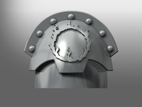 Honoris ptrn shoulder pads: Lotherian Sun in Smooth Fine Detail Plastic: Small