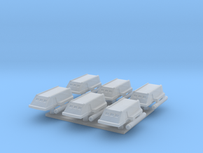 1/1000 TOS Shuttlecraft - Six Pack in Smooth Fine Detail Plastic