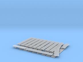 1/350th scale Railtrack set (21 pcs) in Smooth Fine Detail Plastic