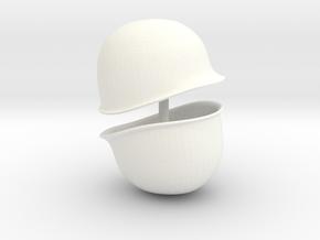 WW2 M1 Helmet For Playmobil x2 in White Processed Versatile Plastic