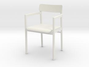 1:12 Miniature Post Chair - Cecilie Manz in White Natural Versatile Plastic