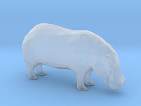 Plastic Hippopotamus v1 1:64-S 25mm in Smooth Fine Detail Plastic