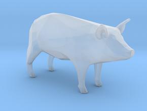 Plastic Pig v1 1:64-S 25mm in Smooth Fine Detail Plastic
