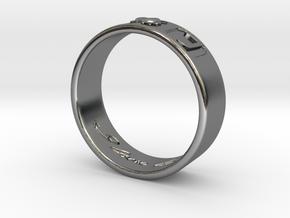 R + J Size 11 in Fine Detail Polished Silver