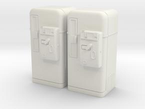 Vintage vending machine 01. 1:32 Scale  in White Natural Versatile Plastic