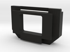 Olympus OM-D E-M5*, E-M10* finder adapter in Black Natural Versatile Plastic