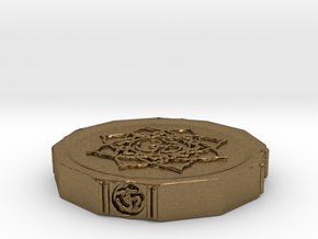 Aum Coin in Natural Bronze