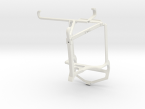 Controller mount for PS4 & Oppo Reno6 Pro+ 5G - To in White Natural Versatile Plastic
