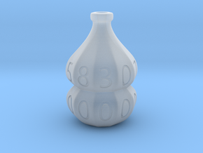 D100 Hollow Potion Dice in Smooth Fine Detail Plastic