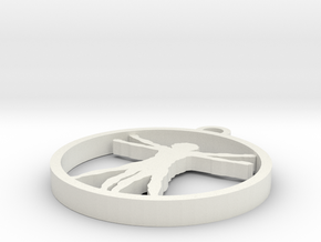 Da Vinci X Man Pendant in White Natural Versatile Plastic
