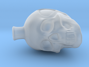 D2 Hollow Skull Dice in Smooth Fine Detail Plastic