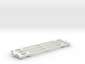 "3/4"" Scale USRA 10,000 Gallon Tender Frame in White Natural Versatile Plastic"
