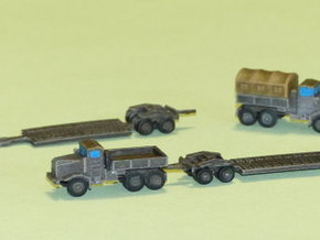 Faun 908 / 912 Tank Transporter 1/285 6mm in Smooth Fine Detail Plastic