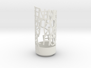 Light Poem new 1 in White Natural Versatile Plastic