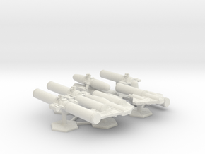 7000 Scale ISC Fleet Sustainment Convoy Collection in White Natural Versatile Plastic