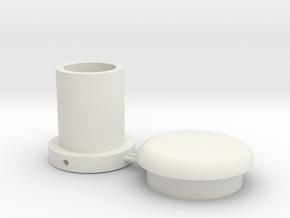 Battle Brick Saber Blade kit V2-T3 (Thickness-3mm) in White Natural Versatile Plastic